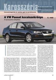 A VW Passat kocsiszekrénye - Autótechnika