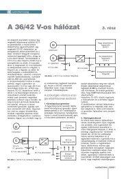 A 36/42 V-os hálózat - Autótechnika