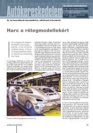 Harc a rétegmodellekért - Autótechnika