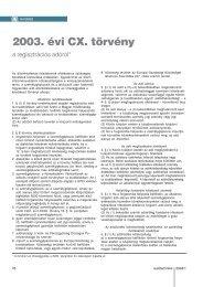 2003. évi CX. törvény - Autótechnika