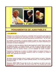 PENSAMIENTOS DE JUAN PABLO II - Autores Catolicos