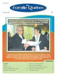 Printemps 2009 - Association des parents catholiques du Québec ...