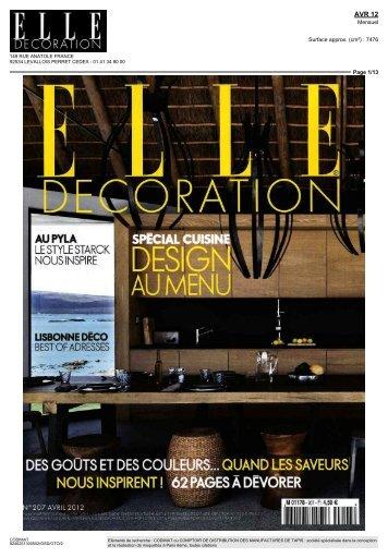 ELLE DECORATION Avril 2012 - Codimat