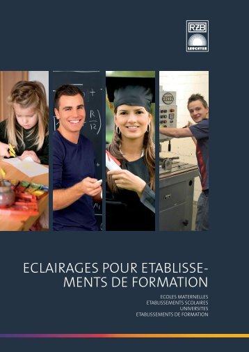 ECLAIRAGES POUR ETABLISSE- MENTS DE FORMATION - RZB