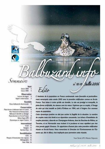 Balbuzard info n°10/11 - LPO Mission rapaces