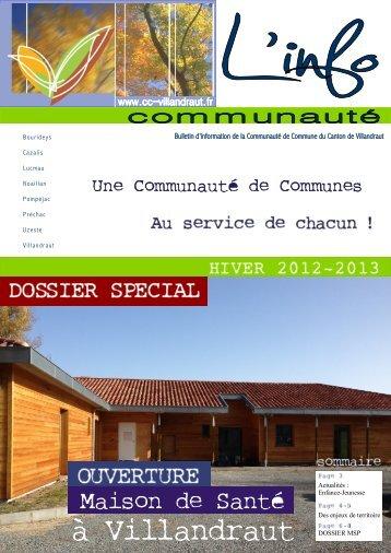 l'info - Communauté de Communes du Canton de Villandraut