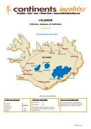 ISLANDE - Continents Insolites