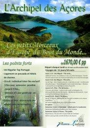 L'Archipel des Açores - Voyages Bernier Vacances