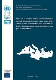 Note sur la création d'Aires Marines Protégées au-delà des ...
