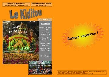 Bonnes vacances ! - Collège Verlaine - Béthune