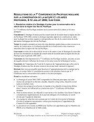 Résolutions de la 7e Conférence du Pacifique insulaire sur ... - SPREP