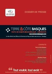 Télécharger le dossier de presse - Janvier 2013 - Terre et Côte ...