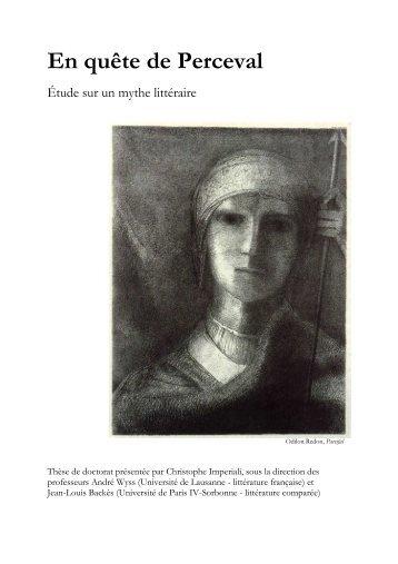 En quête de Perceval - Université Paris-Sorbonne