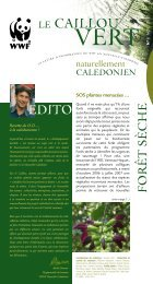 Le caillou vert n°8, la lettre d'information du WWF en Nouvelle ...