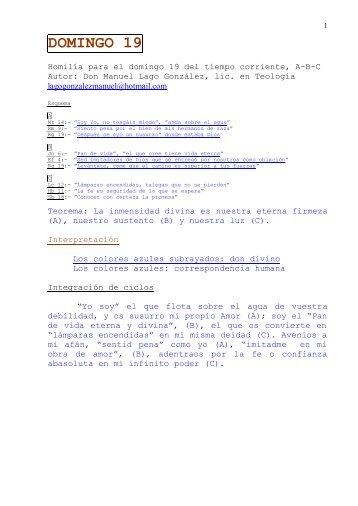 DOMINGO 19 - Autores Catolicos