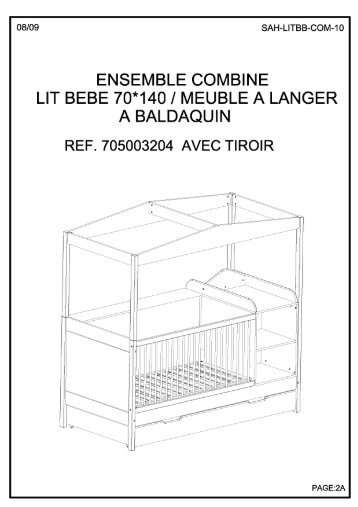 Table a langer fifi certificat de conformit la norme for Combine lit table a langer