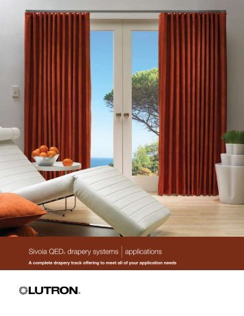 Sivoia QED® drapery systems |applications - Avd.co.nz