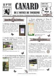 Le P'tit Canard - Office de Tourisme de Châteauneuf sur Loire