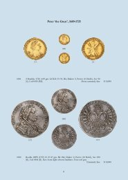 Peter 'the GreatP, 1689-1725 - DMITRY MARKOV Coins & Medals