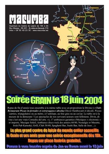 Gazette n°5 du mardi 8 juin 2004 - La gazette du Grain - Free