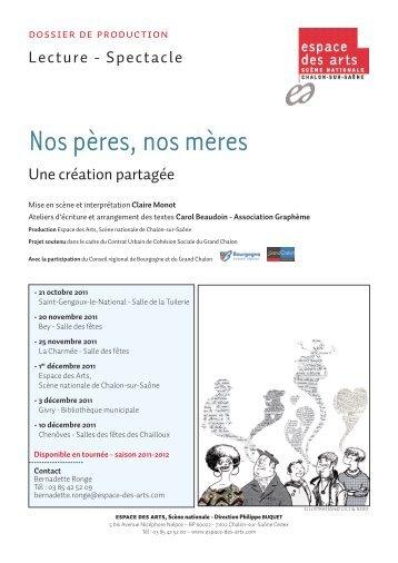 Dossier de production - Espace des Arts
