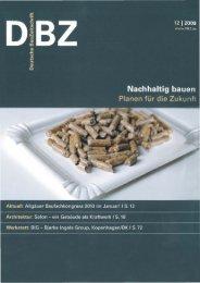 Deutsche Bauzeitung 12-2009 - Kaufmann Bausysteme