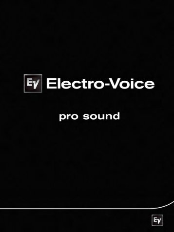 Electro Voice Catalog (pdf) - Loyola Enterprises Inc. Audio Visual ...