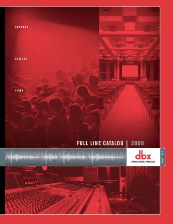 DBX Catalog - Loyola Enterprises Inc. Audio Visual Systems