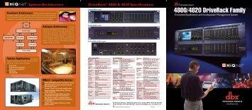 DriveRack 4800 Brochure-English - dbx