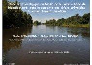 Étude écotoxicologique du bassin de la Loire à l'aide de ...