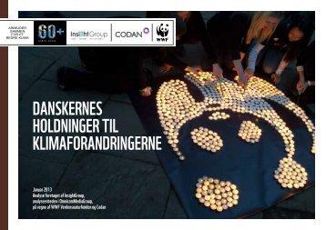 Danskernes holDninger til klimaforanDringerne - WWF