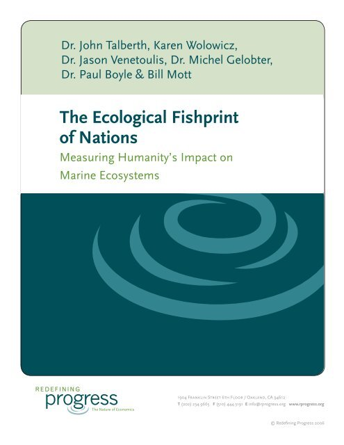 The Ecological Fishprint of Nations - Center for Sustainable Economy
