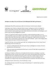 Høringssvar om udkast til lov om CO2 kvoter fra Det ... - WWF
