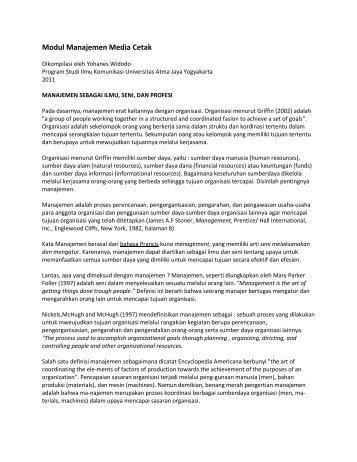modul-manajemen-media-cetak-2012 - Ayo Menulis FISIP UAJY