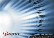 Honda CBR 600 RR (2003) Racing / Evolution Exhaust ... - HoltugMC