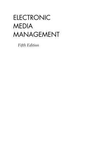 ELECTRONIC MEDIA MANAGEMENT - Ayo Menulis FISIP UAJY