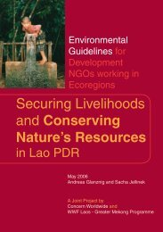 Securing Livelihoods and Conserving Nature's Resources - WWF