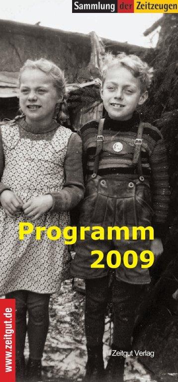 www .zeitgut.de Programm 2009 - Zeitgut Verlag GmbH
