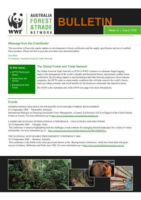 AFTN Newsletter August 2008