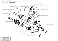 APRILIA DORSODURO, SLIP-ON exhaust system / EC Type ...