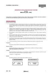 Installation instructions: AKRAPOVIC EVOLUTION EXHAUST ...