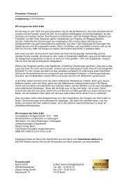 Drei Pressetexte zum Buch (PDF) - Zeitgut Verlag GmbH