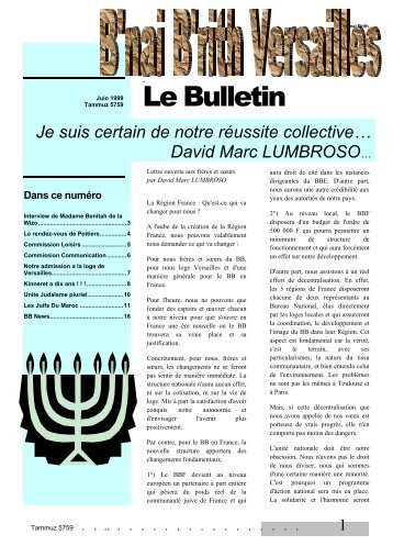Document - Le Bulletin de Versailles