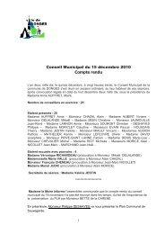 pv conseil municipal du 15/12/2010 - Ma page d'accueil