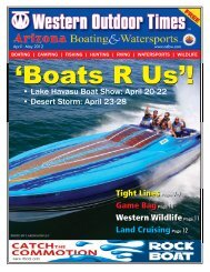 April 20-22 • Des - Arizona Boating & Watersports