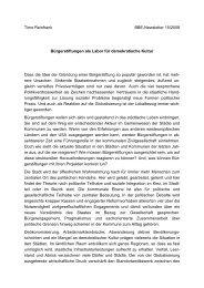 Timo Reinfrank BBE-Newsletter 15/2008 Bürgerstiftungen als Labor ...