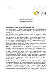 Heike Hülse BBE-Newsletter 13/2008 Freiwilligendienste im Sport ...