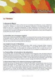 Le Tibidabo - Ajuntament de Barcelona