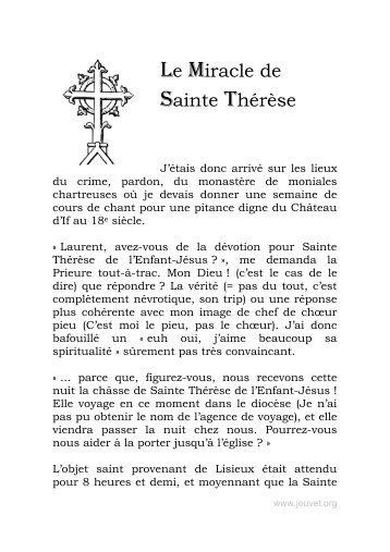 le miracle de sainte Thérèse - Laurent Jouvet