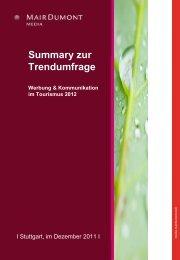Werbung & Kommunikation im Tourismus 2012 - B2B